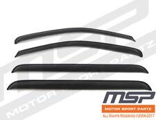 Dark Grey Outside Mount JDM Vent Visor Deflector 4pc For Nissan Pathfinder 05-12