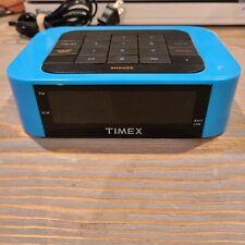 Timex T123L Alarm Clock Blue Rainbow Numbers