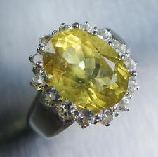 4.75cts natural Heliodor Berilo Amarillo Oro & Topacio 925 Sterling Silver Ring