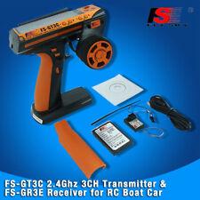 Flysky FS-GT3C 2.4GHz 3CH Radio Transmitter w/ FS-GR3E Receiver for RC Car Boat