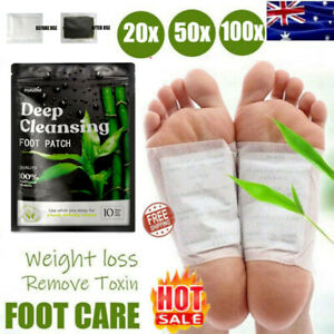 50pcs nuubu Detox Foot Patches Pads Body Toxins Feet Slimming Cleansing Herbal