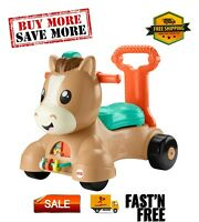 Walk Bounce & Ride Pony, Infant to Toddler Musical Walker and Ride-On Toy, 9-36M