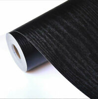 Self Adhesive Film Black Wood Grain Contact Paper Wood Peel and Stick Wallpaper