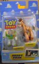 Action Figures Buddy Pack Toy Story Running Buzz Lightyear Bullseye cm 5 Nuovo