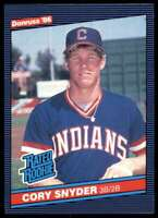 1986 Donruss Cory Snyder Rookie Cleveland Indians #29
