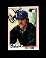 Ray Fosse Hand Signed 1978 Topps Milwaukee Brewers Autograph
