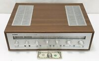 Yamaha CR-620 Vintage Home Stereo Receiver w/ Phono Silver Face Wood Grain