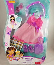 Dora Fiesta Time Fashion Doll Clothing and Accessories, Stickers , Pink Dress