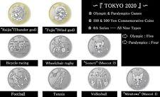 Japan Tokyo Olympics 2020-2021 4th Series 100 & 500 Yen 9 Types coin set UNC