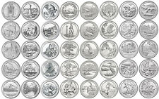 "2010-2017 US ATB National Park Quarters Uncirculated Complete Set ""D"" 40 coins"