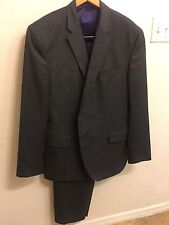 Men's Ted Baker London 'Jay' Charcoal Trim Fit Solid Wool Suit 46R
