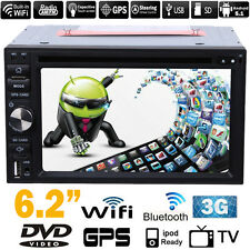 "Android 5.1 6.2"" GPS Sat Nav Double 2 Din Car Stereo DVD Player 3G WiFi TV BT"
