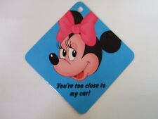 Disney Minnie Mouse Laminated Car Window Sign Vintage