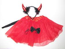 New Halloween tutu devil skirt tail ears bow  costume 3 - 6 years child girl