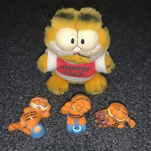 Garfield - Small Cuddly Soft Toy + 3 PVC Figures