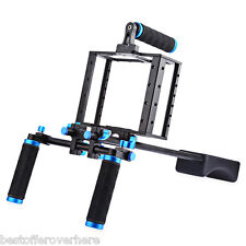 WEIHE Aluminum Alloy Camera Video Cage Shoulder Mount Rig Kit for Canon 5D  Ⅱ
