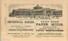 1876 ADVERT US Gov Building Centennial Exposition Philadelphia Weather Vanes