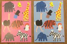 Marimekko postcards from Finland, SET OF 2, Tiikoni jungle animals
