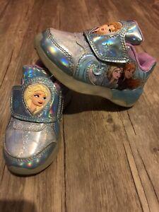 Disney Frozen II Light Up Shoes Elsa & Anna Toddler Girls Blue/Multi Size 7