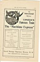 "Vintage 1906 Magazine Ads from ""Rod and Gun in Canada"" ""The Maritime Express"""