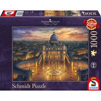 Schmidt Spiele Puzzle Vatikan Thomas Kinkade Glow In The Dark Premium 1000 Teile