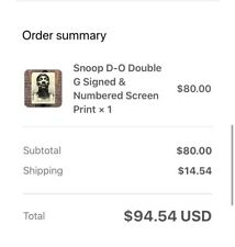 Snoop D-O Double G 18x24 Print LIMITED EDITION Shepard Fairey Obey CONFIRMED
