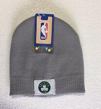 Boston Celtics Knit Beanie Toque Skull Cap Winter Hat NEW NBA Grey White Patch