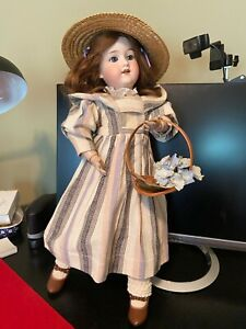Antique Armand Marseille 390N DRGM Bisque Doll Made in Germany