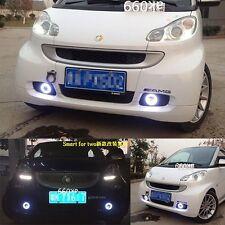 2x LED Daytime Running Fog Lights Lamp DRL For SMART FORTWO 2008 2010 Angel Eyes