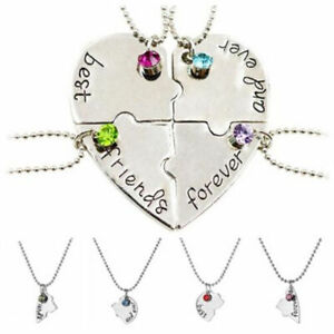 Puzzle Love Heart Friendship Necklace Best Friends Forever And Ever