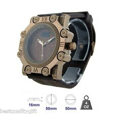 ICE MASTER ESPRESSO,PAVE+CRYSTALS BEZEL,BLING,OVERSIZE BROWN RUBBER MEN'S WATCH