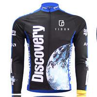 Discovery Channel Long Sleeve Cycling Jerseys Men's  MTB Road Bike Jersey Top