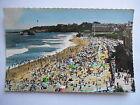 """CPSM """"Biarritz - Vue d'ensemble de la grande plage à l'heure du bain"""""""
