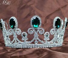 Emerald Tiaras Green Crystal Crowns Bridal Headband Pageant Prom Party Costumes