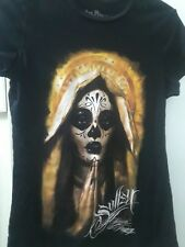 NEW W/O TAGS WOMEN'S  SULLEN ANGELS SHIRT SAYS LG. BUT IS A SMALL 100% COTTON