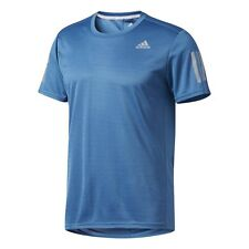 Camisetas de hombre azul adidas de poliéster