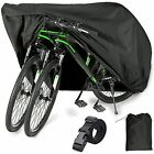 Bike Cover for 2 or 3 Bikes Outdoor Waterproof Black-210D-XL for 2 Bikes