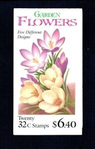 Booklet (20) US 32c Stamps - 1995 Garden Flowers - S #3029a BK234 MNH