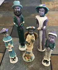 Vintage African American Family Figurines - Resin - Origin Unknown