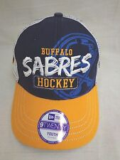 Buffalo Sabres Youth Adjustable 9Twenty Trucker Cap Hat