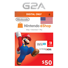 Nintendo eShop $50 Gift Card - 50 USD Nintendo Switch/3DS/WiiU Digital Key [US]