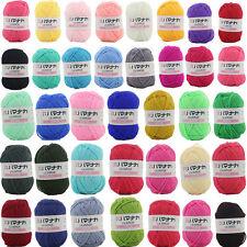 CHIC 38 colors Crochet Soft Bamboo Cotton Knitting Yarn Baby Natural Wool Yarn