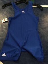 Brand New Youth Adidas Royal Blue Wrestling Singlet - L 75-90lbs