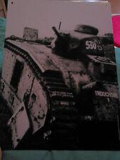 Plaque métallique char d'assaut Indochine - Tank - 21X28 cm