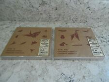 2 MUJI Origami Sets Birds and Animals w/Guides & 120 150mm square sheets Japan