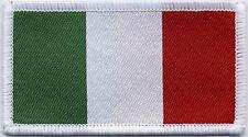 Italian Flag, Woven Badge, Patch 8cm x 4.5cm
