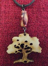 Tree of Life Pendant Birch Wood Bead Mystic Earthy Celtic Pagan Wicca Necklace