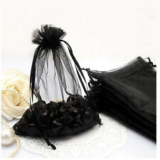 100Pcs Gauze Organza Sheer Wedding Party Favour Gift Bags Jewelry Pouch Bag