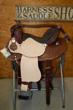 "16"" GW CRATE FEATHER BARREL RACING SADDLE CUSTOM ONE OF A KIND FREE SHIP RACER"