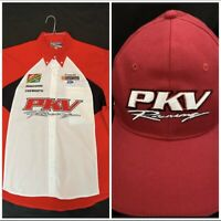 Vintage Champ Car CART Indycar PKV Racing Pit Crew Shirt XL! Plus Team Hat! New!